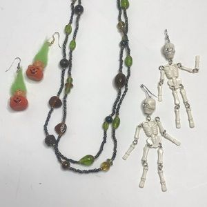 Halloween Jewelry Bundle Pumpkin Trolls Skeleton